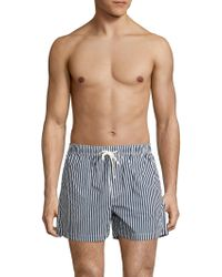 North Sails - Volley Striped Swim Trunks - Lyst