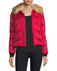 Post Card - Quilted Fox Fur Jacket - Lyst