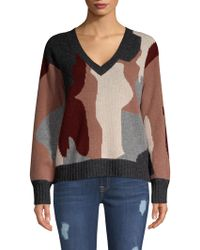 360cashmere - Skull Cashmere Cropped Sweater - Lyst