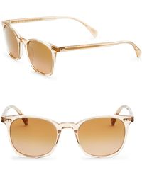 Oliver Peoples - L.a Coen, 49mm, Square Sunglasses - Lyst