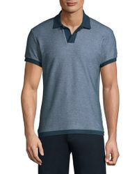 Orlebar Brown - Textured Cotton Polo - Lyst