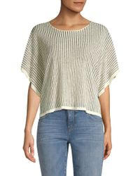Eileen Fisher - Wide Sleeve Organic Linen Blend Top - Lyst