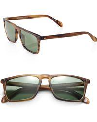 Oliver Peoples - Bernardo Rectangle Sunglasses - Lyst