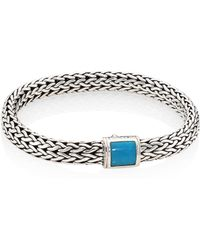 John Hardy - Classic Chain Medium Turquoise & Sterling Silver Bracelet - Lyst