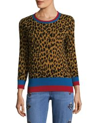 Etro - Leopard Banded Crewneck - Lyst