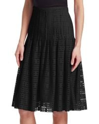 Akris Punto - Pleated Lace A-line Skirt - Lyst