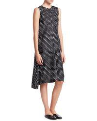 Theory - Nophelia Triangle Stripe Print Silk Shift Dress - Lyst