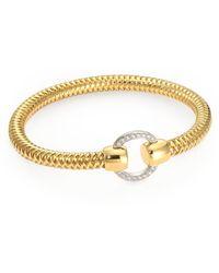 Roberto Coin - Primavera Diamond And 18k Yellow Gold Woven Bracelet - Lyst