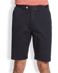 Saks Fifth Avenue   Tailored Pima Cotton Shorts   Lyst