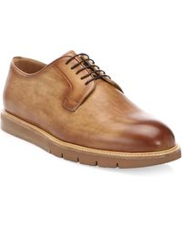 Saks Fifth Avenue - Savall Tabaco Leather Oxfords - Lyst