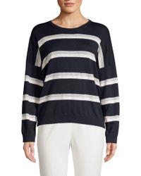 Peserico - Lurex Striped Wool, Silk & Cashmere Sweater - Lyst