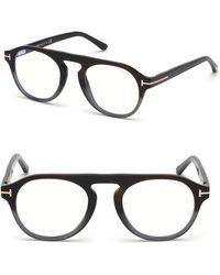 tom ford 49mm soft round tortoise shell optical eyeglasses lyst Oakley Gascan Black Iridium Polarized tom ford 49mm soft round gradient optical eyeglasses lyst