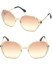 Roberto Cavalli - Geometric Sunglasses - Lyst