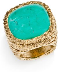 Aurelie Bidermann - Miki Turquoise Cocktail Ring - Lyst
