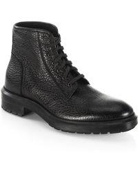 Aquatalia - Tyson Textured Boots - Lyst