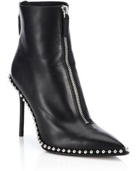 Alexander Wang - Studded Leather Booties - Lyst