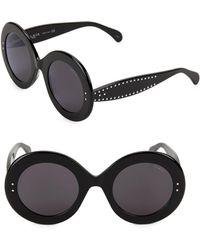 81cee9c23 Alexander McQueen Studded Aviator Sunglasses in Black - Lyst
