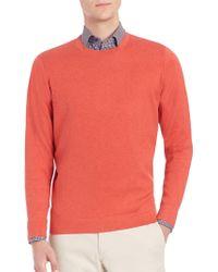 Saks Fifth Avenue - Silk, Cotton & Cashmere Crewneck Sweater - Lyst