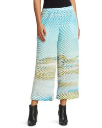 Issey Miyake - Fuzzy Wide-leg Pants - Lyst
