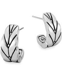 John Hardy - Modern Chain Silver Small J Hoop Earrings/0.75 - Lyst