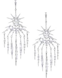 Adriana Orsini - Nova Crystal Fringe Chandelier Drop Earrings - Lyst