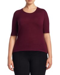 Stizzoli - Short Sleeves Knitted Wool Top - Lyst