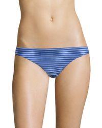 Shoshanna - Striped Classic Bikini Bottom - Lyst