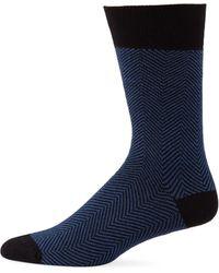 Saks Fifth Avenue - Herringbone Dress Socks - Lyst