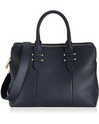 Gigi New York - Parker Pebbled Leather Satchel - Lyst