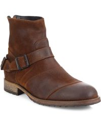 Belstaff - Trialmaster Leather Ankle Boots - Lyst