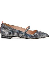 c43f28e80 SJP by Sarah Jessica Parker - Vana Embellished Point Toe Mary Jane Flats -  Lyst