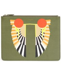 Givenchy - Egyptian Wings Leather Pouch - Lyst