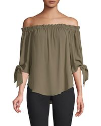 BCBGMAXAZRIA - Off-the-shoulder Georgette Top - Lyst