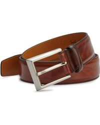 Saks Fifth Avenue - Saks Fifth Avenue By Magnanni Leather Belt - Lyst