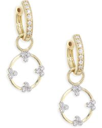 Jude Frances - Provence Champagne Open Circle Diamond Trio Earring Charms - Lyst