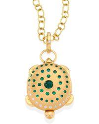 Temple St. Clair - Turtle Diamond, Emerald & 18k Yellow Gold Locket - Lyst