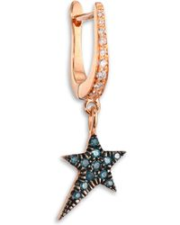 Diane Kordas - Diamond & 18k Rose Gold Star Earring Charm - Lyst