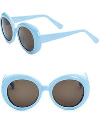 af4e9c55e569 Gentle Monster - Women s 52mm Red Pocket Round Sunglasses - Blue - Lyst