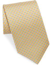 Ferragamo - Silk Oyster With Pearl Tie - Lyst