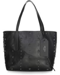 Jimmy Choo - Twist East West Star Studded Leather Tote - Lyst
