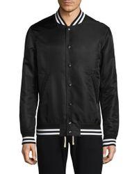 Reigning Champ - Stripe-trimmed Logo Jacket - Lyst