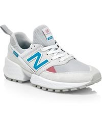 0a7c9e93bfa64 New Balance 574 Classic Suede & Mesh Sneakers in Natural - Lyst