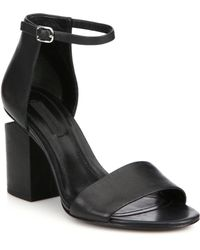 Alexander Wang - Abby Tilt-heel Leather Ankle-strap Sandals - Lyst