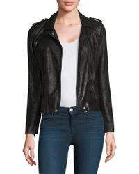 Rebecca Taylor - Crackle Leather Moto Jacket - Lyst