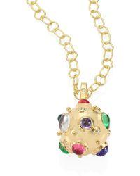 Temple St. Clair - Cosmos Diamond, Semi-precious Multi-stone & 18k Yellow Gold Pendant - Lyst