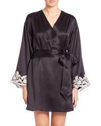 La Perla - Vestaglia Corta Silk Robe - Lyst