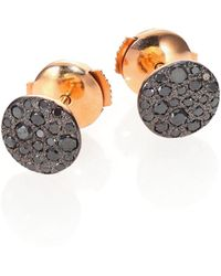 Pomellato - Sabbia Black Diamond & 18k Rose Gold Stud Earrings - Lyst