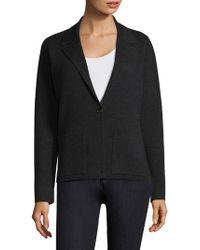 Eileen Fisher - Notched Collar Wool Blazer - Lyst