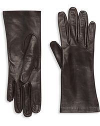 Saks Fifth Avenue - Silk-lined Leather Gloves - Lyst