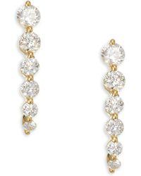 Anita Ko - 18k Gold & Diamond Graduated Cascade Earrings - Lyst
